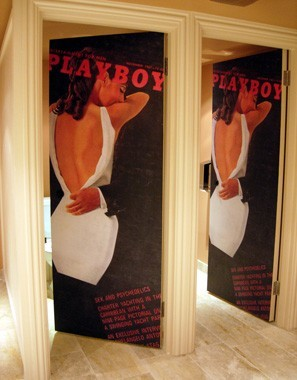 Printed Laminate Cubicle Door Playboy